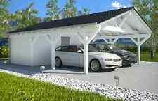NUOVO Premium spitzdachcarport con dispositivi stanza 6.50 x 9.00 preparate dalla fabbrica
