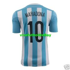 NEW Adidas Mens Argentina 2015 DIEGO MARADONA #10 Jersey OFFICIAL NAME/NUMBER M