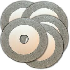 "KENT Set of 5 100mm (4"") Continuous Diamond Cutting Wheel For Jewelry and Glass"