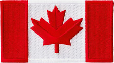 43035 Large Canadian Flag Canada Northern Maple Leaf Embroidered Iron On Patch