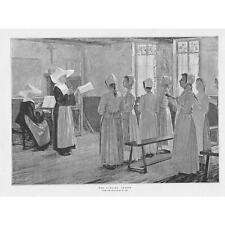 FINE ART The Singing Lesson From the Painting by W Gay - Antique Print 1891