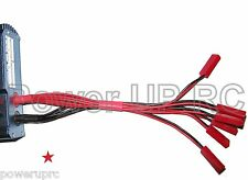 Parallel JST Charge Cable Cord Adapter Harness 4mm Banana Bullet Plug 6x lipo