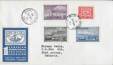 Canada FDC: 1951 CAPEX Official cachet; addressed Combo FDC Sc 311-14