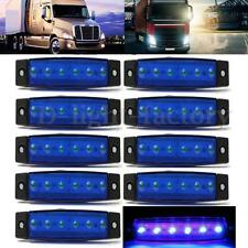 10x 6 LED 12V Side Marker Indicators Lights Clearance Lamp Lorries Truck Trailer