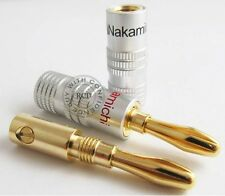 24 PCS Nakamichi Speaker Banana Plug Adapter Audio Jack Connector 24k Gold