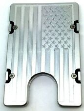 Large American Flag,Billet Vault Aluminum Wallet RFID protection silver anodized