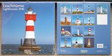 Leuchttürme 2016 Wandkalender Ferienterminen Leuchtturm Lighthouses ovp Korsch