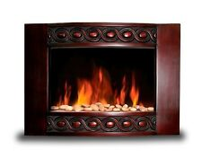Brand New 1500W Deluxe Wood Wall Mount Electric Fireplace Space Heater BG04