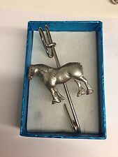 "Heavy Horse E05 Horse   kilt pin Scarf or Brooch pin pewter emblem 3"" 7.5 cm"