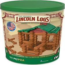 Knex Lincoln Logs 100Th Anniversary Tin Building Set Play Toy Knex New