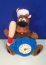 "Scooby Doo with Battery Clock 12"" Warner Brothers Plush New w/Tags"