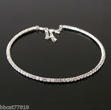 Diamante Crystal Diamond Rhinestone Necklace Choker Silver Wedding Party Chain