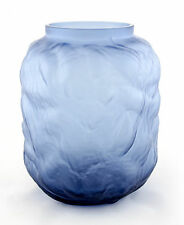 A Lindshammar blue glass tealight holder / vase. Swedish design