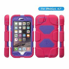 NEW Apple iPhone 6 Case, Aceguarder Extreme Duty Protection Case  (Rose/Purple)