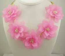 "Joan Rivers Flower Necklace  20"" 3"" ext."