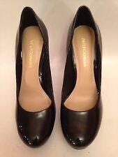 Arturo Chiang Women 9M Black Patent Leather Platform Heels Shoe Excellent
