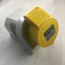 Duraplug by MK Electric 16A 110V 130V Yellow 4Pin Commando 4h