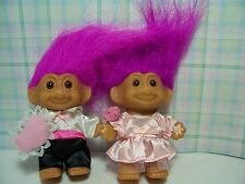 "FLOWER GIRL AND RING BEARER - 3"" Russ Troll Dolls - NEW IN ORIGINAL WRAPPERS"