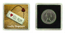 GOOD LUCK LUCKY SILVER SIXPENCE I LOVE YOU MUM MOTHERS DAY BIRTHDAY PRESENT GIFT