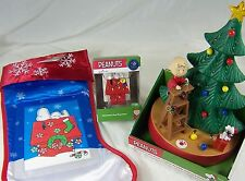 Peanuts Animated Table Ornament,Charlie Brown, Snoopy Christmas Stocking,Tree