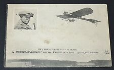 CPA 1909 AVIATION MONOPLAN MARCEL HANRIOT GENRE ANTOINETTE AVIATEUR MEETING