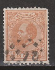 NVPH Netherlands Nederland 23 J CANCEL DEVENTER 24 Willem III 1875