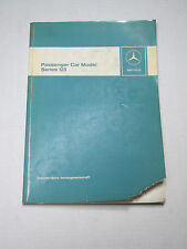 Factory Mercedes Benz Service Manual - Series 123 W123 1976 - Gasoline & Diesel
