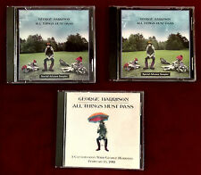 George Harrison All Things Must Pass 2001 (US&UK) 3 Promo CDs Collection Beatles