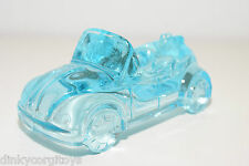 ASBAK ASHTRAY ASCHENBECHER GLASS VW VOLKSWAGEN BEETLE KAFER BLUE MINT RARE