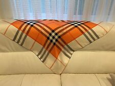 100% Silk Scarf with Plaids - Orange