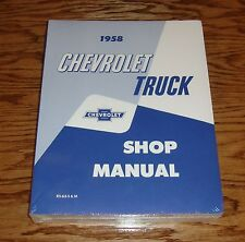 1958 Chevrolet Truck Shop Manual Pickup Chevy 58