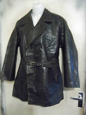 VINTAGE POST WW2 SWEDISH OFFICERS GOATSKIN LEATHER JACKET SIZE M RIRI ZIPS