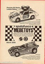 Pubblicità Advertising MATTEL Sputafuoco MEBETOYS 1971 Porsche 912 e Fiat Abarth