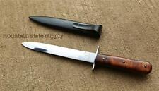 "WWII German Army Solider's Boot 6"" Fighting Knife w/ Scabbard *Excellent Repro*"
