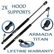 2 New Front Hood Lift Supports Shock Strut Prop Rod Arm For Nissan Armada Titan
