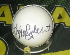 Adam Gilchrist (Australia) signed White Cricket Ball + COA & Photo Proof