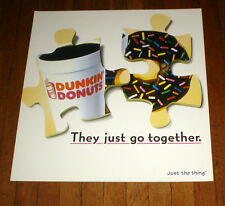 VINTAGE DUNKIN DONUTS NYC SUBWAY POSTER