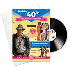 Happy 40th Story of Your Life 24 Page Booklet Greeting Card and Pop CD Download