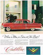 Vintage 1953 Magazine Ad For Cadillac A Man's Mood Is Obvious At The Wheel