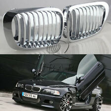 Chrome Front Kidney Grill Grille for BMW E46 2 Door 2D 3 Series 1998-2001 Coupe