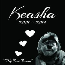 """Personalized Pet Stone Memorial Grave Engraved Marker 12""""x12"""" Yorkshire Terrier"""