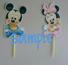 baby mickey and baby minnie mouse cupcake toppers