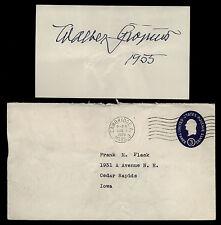 Walter Gropius (d.1969) Signed 3x5 Index Card- Bauhaus School Founder