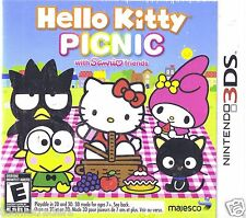 Hello Kitty Picnic With Sanrio Friends (3DS, 2012)  *Factory Sealed*  NIB