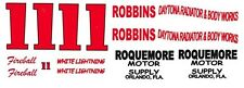 #11 Fireball Roberts Roquemore Motor Supply 1/25th - 1/24th Scale Decals