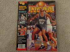 1992-93 NCAA Basketball Preview Magazine with Georgetowns Othella Harrington