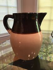 Vintage Roseville Pottery Pitcher Creamer Tan and Brown