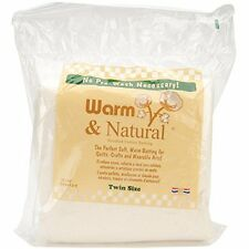 Warm Company Batting 72-Inch by 90-Inch Warm and Natural Cotton Batting, Twin ,