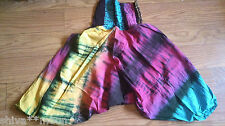 HIPPY BOHO FAIRTRADE TIE DYE ALI BABA HAREEM HAREM TROUSERS PANTS COTTON  208A