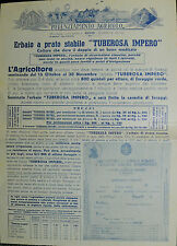 """Pubblicità WERBUNG - MILANO 1949 """" SAPA : POTENZIAMENTO AGRICOLO """""""